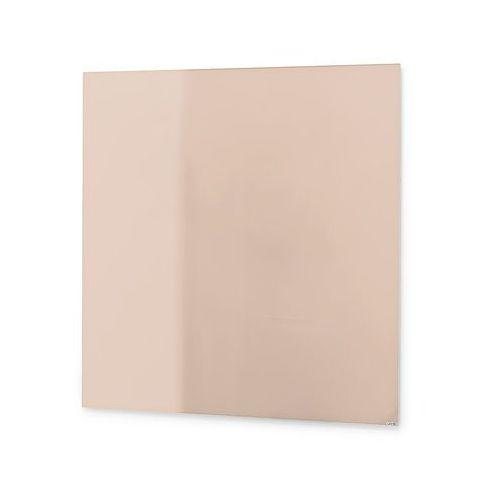 Szklana tablica suchościeralna, 500x500 mm, pudrowy różowy