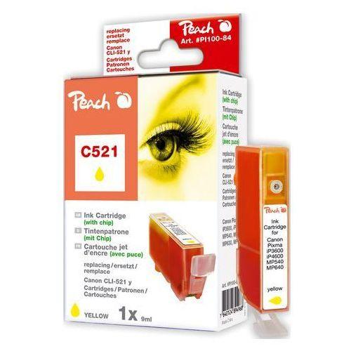 Tusz zamiennik XL Peach yellow z chipem, kompatybilny z CLI-521y, 2936B001