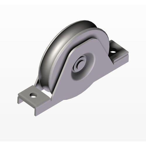 Koło do bram przesuwnych z rowkiem U, INOX, D80mm