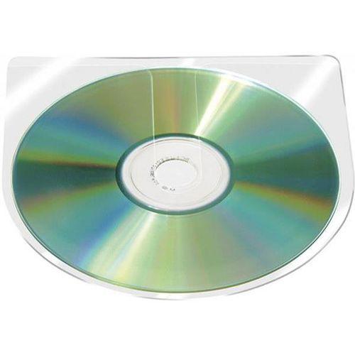 Q-connect Kieszeń samoprzylepna cd/dvd , półokrągła, 126x126mm, 10szt., transparentna