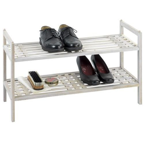 Drewniany stojak na buty, obuwie, NORWAY - 2 poziomy, WENKO, B0719WKLSK