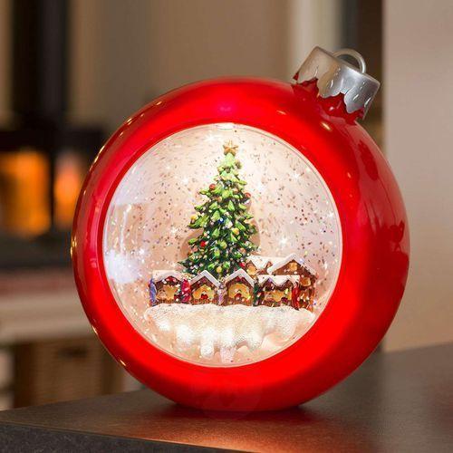 Konstmide christmas Czerwona bombka led jarmark bożonarodzeniowy, woda (7318304360557)