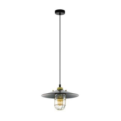 Eglo Lampa wisząca gleaston 49929 zwis 1x60w e27 czarny/złoty (9002759499297)