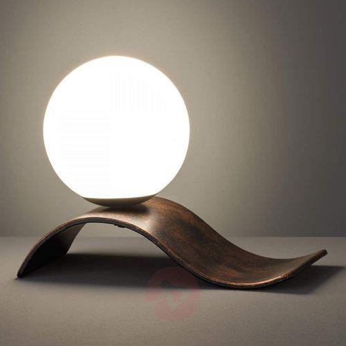 Antyczna miedź – lampa stołowa lara z kulą marki Trio leuchten