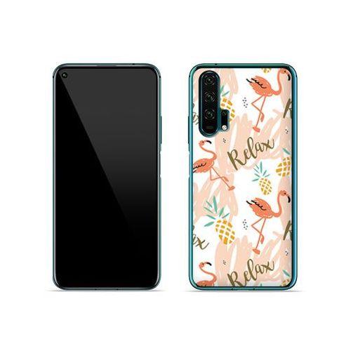Huawei Honor 20 Pro - etui na telefon Fantastic Case - różowe flamingi