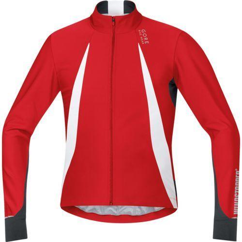 Gore bike wear oxygen koszulka kolarska mężczyźni ws czerwony/cz m koszulki rowerowe z długim rękawem (4017912509589)