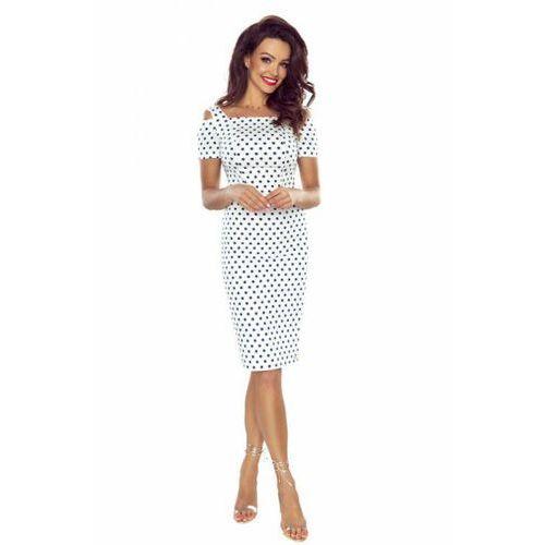 Sukienka Model Roxi 85-02 White/Navy Grochy