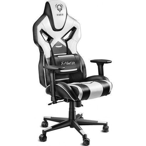 Fotel Diablo Chairs X-Fighter Czarno-biały (5902560333268)
