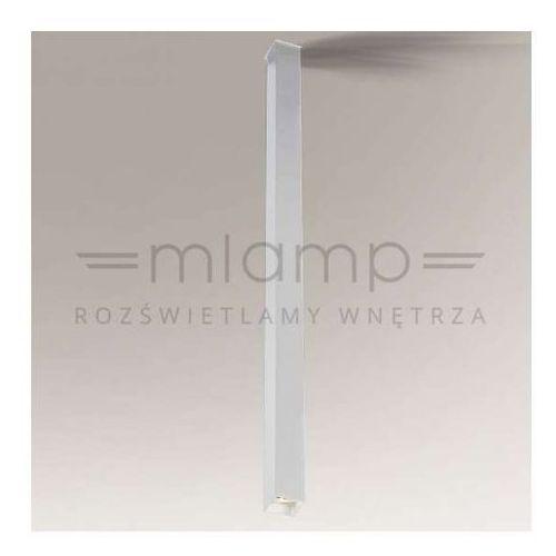 Downlight lampa sufitowa doha 8027/gu10/bi prostokątna oprawa metalowa do łazienki ip44 biała marki Shilo