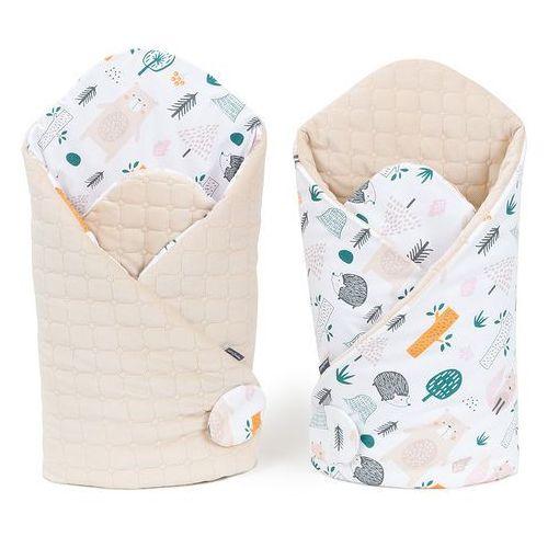 Mamo-tato rożek niemowlęcy dwustronny velvet lux - forest / piaskowy