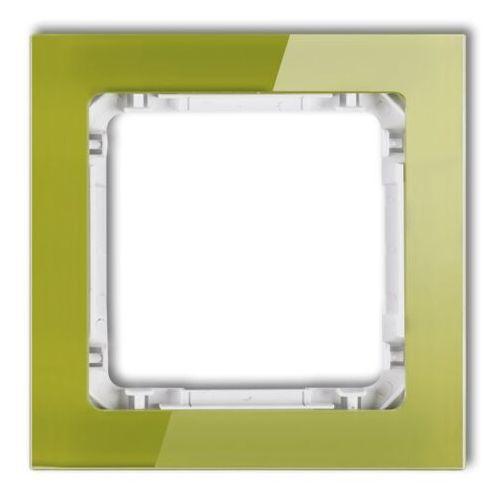 Karlik deco 2-0-drs-1 ramka uniwersalna 1-krotna - efekt szkła (ramka zielona; spód biały) zielony