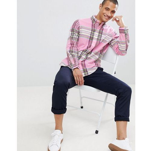 madras check button-down shirt with player logo in pink - pink, Polo ralph lauren, S-XXL