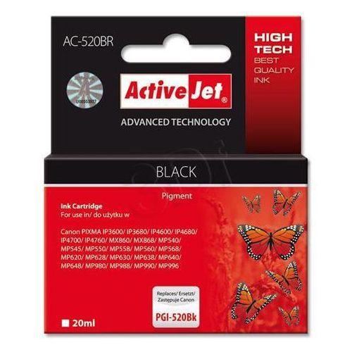 Tusz acr-520bk czarny do drukarki canon (zamiennik canon pgi-520bk) chip [20 ml] marki Activejet