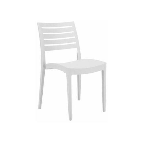 Krzesło ogrodowe firenze plastikowe białe marki Telehit garden