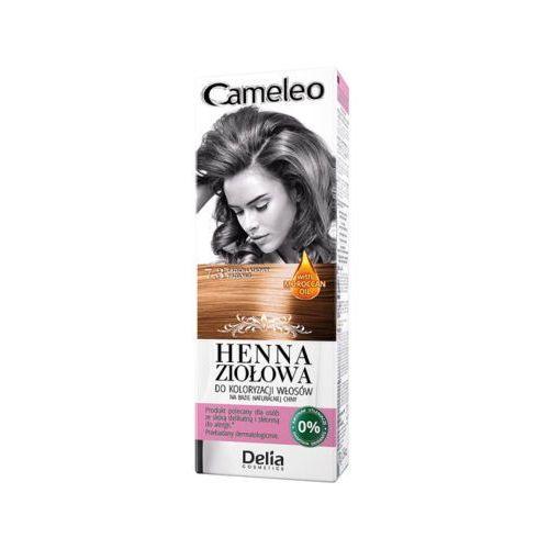 Delia cosmetics cameleo 7.3 orzech laskowy henna ziołowa do koloryzacji włosów