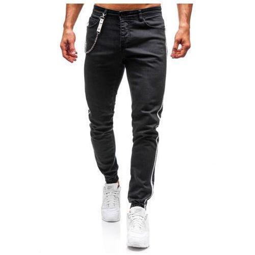 Otantik Spodnie jeansowe joggery męskie antracytowe denley 2057