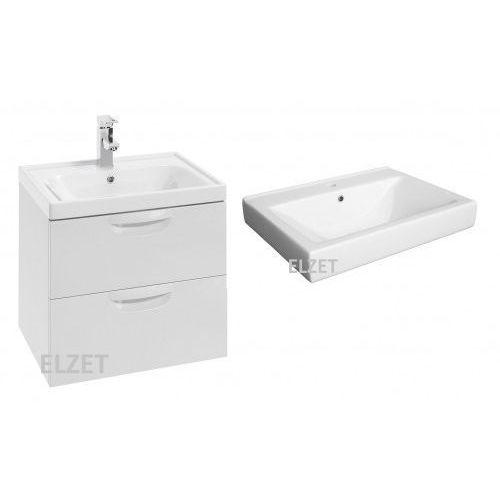 DEFRA szafka Flou D60 2 szuflady biały połysk + umywalka Mona 60 259-D-06007+3022, 259-D-06007.3022