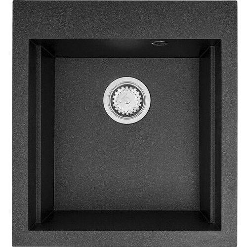 Zlewozmywak granitowy jednokomorowy siros 47x51,5 1b 070084301 czarny (czarny nakrapiany)- natychmiastowa wysyłka, ponad 4000 punktów odbioru! marki Pyramis
