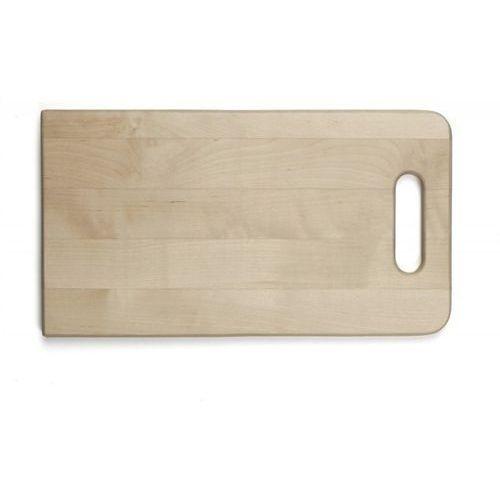 Deska drewniana do krojenia z uchwytem, wymiary 38x21x2,1 cm, EXXENT 78521