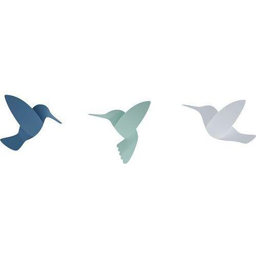 Umbra Dekoracja ścienna hummingbird niebieski zielony biały 9 szt.