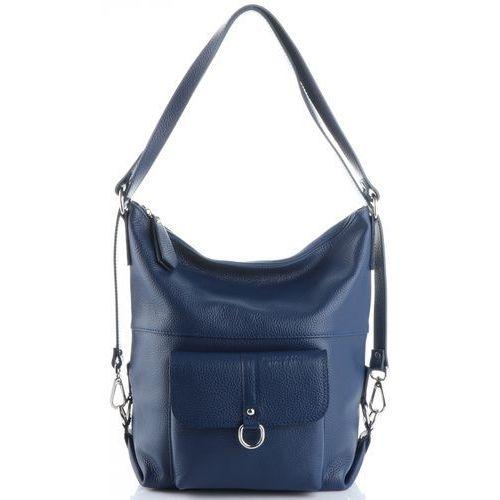 be8e93af423b1 uniwersalne firmowe torebki skórzane na każdą okazję plecaczki duże  listonoszki xl niebieskie (kolory) marki