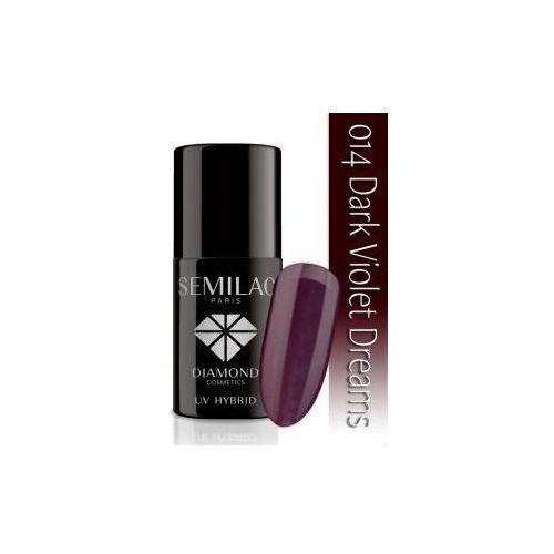 Semilac 7ml diamond uv hybrid 014 dark violet lakier hybrydowy do paznokci