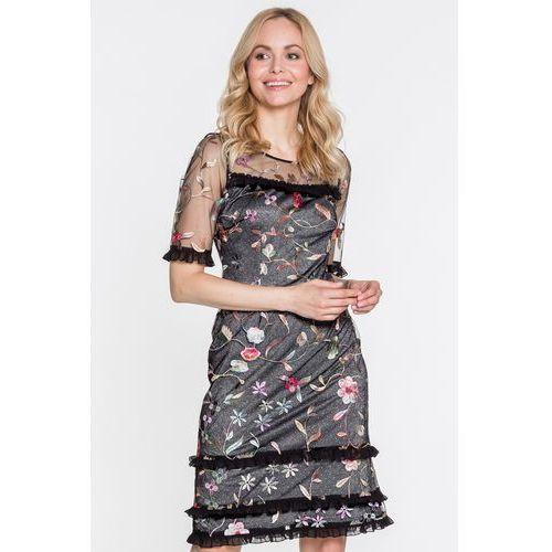 Potis & verso Finezyjna sukienka z kwiatami florence -