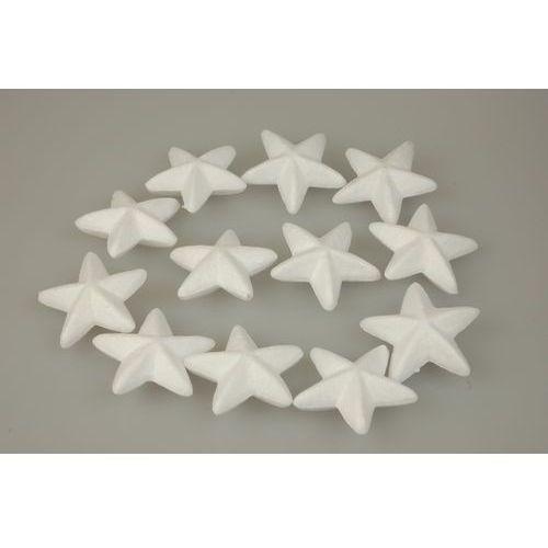 Titanum Gwiazdy, dekoracje styropianowe 12 szt, craft-fun - gwiazdka