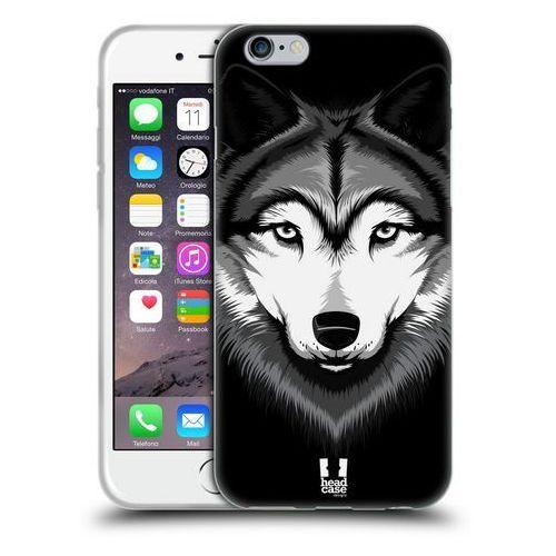 Etui silikonowe na telefon - Big Face Illustrated Grey Wolf