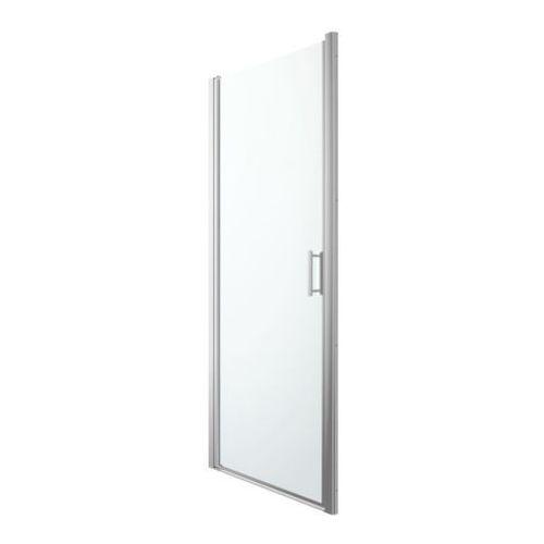 Cooke&lewis Drzwi prysznicowe uchylne beloya 90 cm chrom/transparentne (3663602944768)