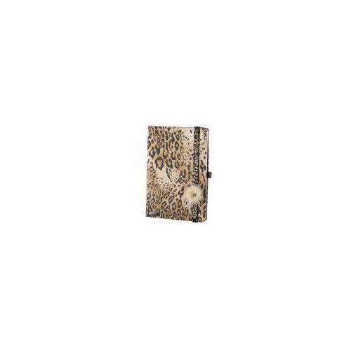 Lediberg Notes a6 lanybook wild cat w kratkę brąz (8053629970904)