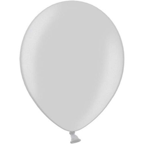 Twojestroje.pl Balon lateksowy metallic srebrny 30 cm 1 szt.
