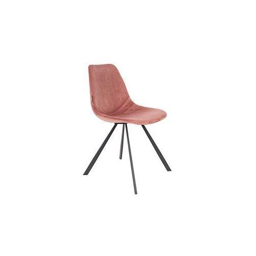 Dutchbone krzesło franky różowe 1100368
