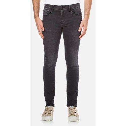 men's super skinny 5 pocket jeans - elastic black - w36/l32, marki Calvin klein