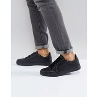 River Island Textured Trainers With Zip Detail In Black - Black