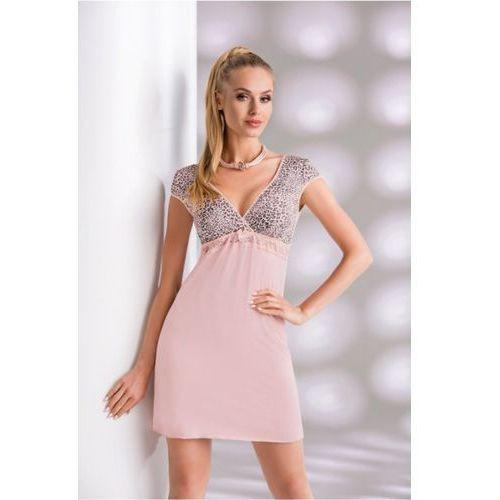 Koszula Nocna Model Marika Dirty Pink, kolor różowy