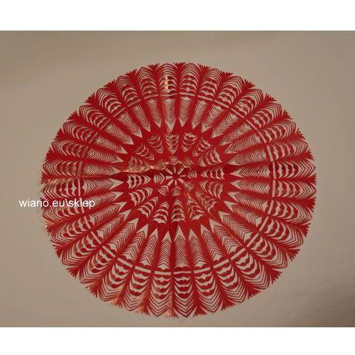 Wycinanka ludowa, kurpiowska, gwiazda, śred. 34 cm, kolor czerwony (czk-4) marki Twórczyni ludowa
