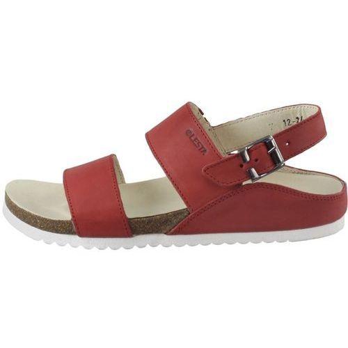 Sandały letnie Lesta 1224, kolor czerwony