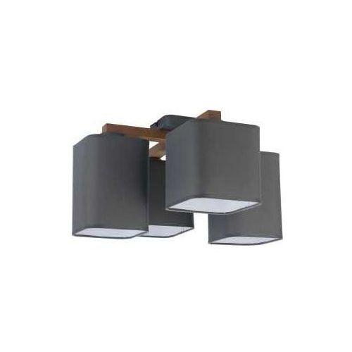 TK Lighting Tora Grey 4166 Plafon lampa sufitowa 4x60W E27 grafit/sosna