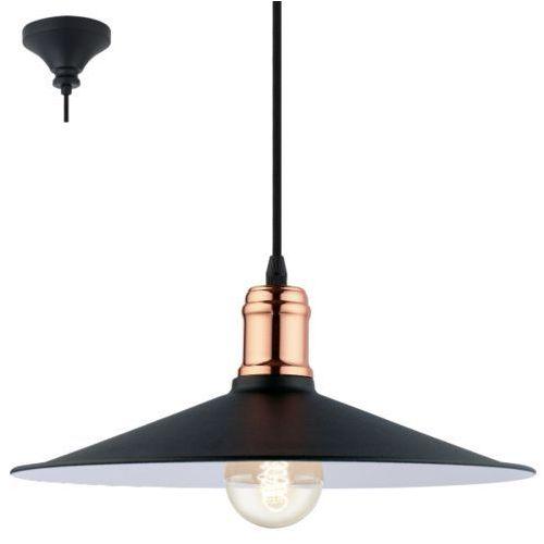 Eglo Lampa wisząca bridport czarna, 49452