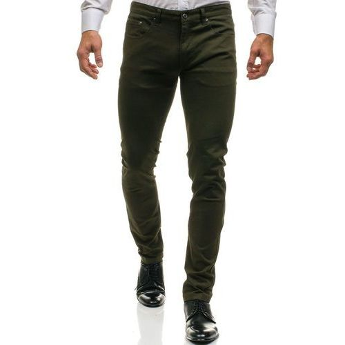J7 Spodnie chinosy męskie zielone denley ho8