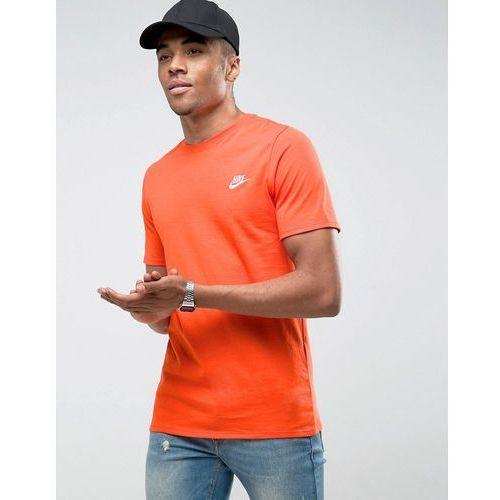 Nike embroidered futura logo t-shirt in orange 827021-891 - orange