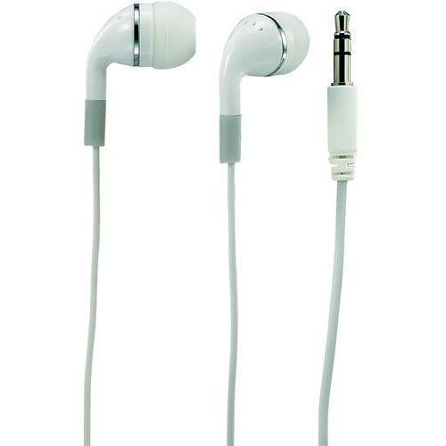 Słuchawki In Ear Basetech 311265, 105 dB, 20 - 20 000 Hz, Złącze typu mini jack 3,5 mm, biały