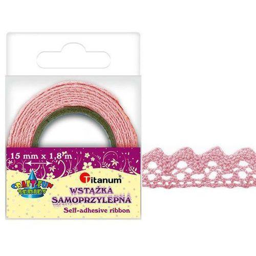 Koronka samoprzylepna taśma różowa 15mm 1,8m - różowy (5907437703359)