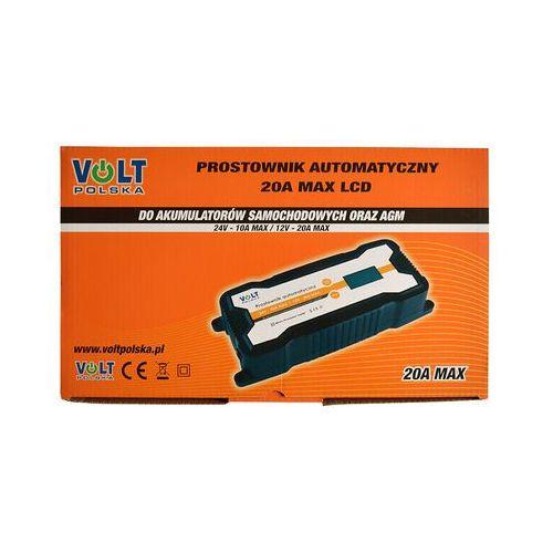 Prostownik automatyczny VOLT 20A LCD 12V/24V (5903293765098)