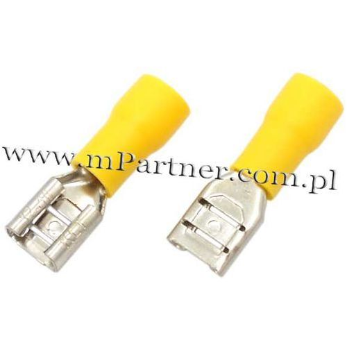Mpartner Nasuwka konektor żeński 6,3 mm z osłoną do 6mm 100szt