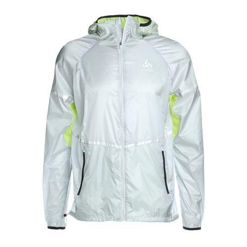 Odlo jacket zeroweight kurtka do biegania silver/acid lime