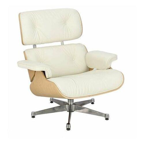 Fotel Vip inspirowany Lounge Chair - srebrny ||biały ||natural, 42300