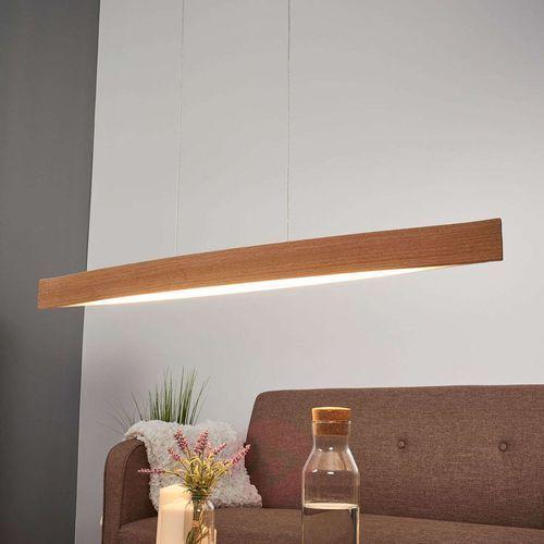 Lampa wisząca fornes 93342 drewniana oprawa listwa led 24w brązowa marki Eglo