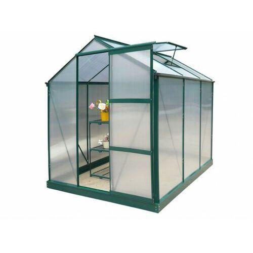 Vente-unique Szklarnia ogrodowa z poliwęglanu 3,4m² giardina z podstawą